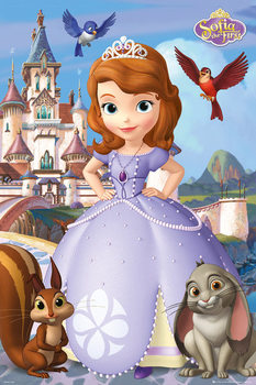 SOFIA THE FIRST - cast Poster, Art Print