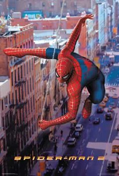 Spiderman 2 - Spiderman Swinging Poster, Art Print