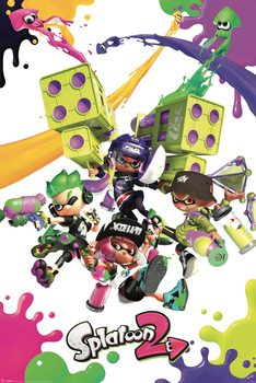 Splatoon 2 - Colour Splats Poster