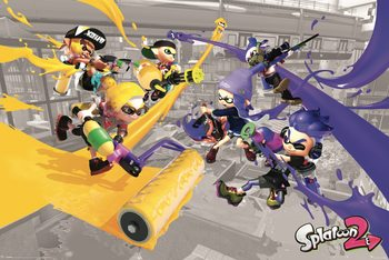 Splatoon 2 - Paint Battle Poster