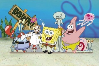 Spongebob - cast Poster