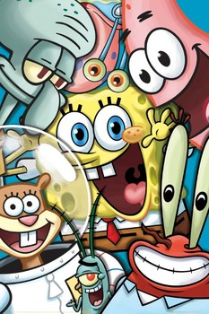 SPONGEBOB - collage Poster
