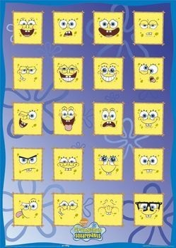 SPONGEBOB - face off Poster