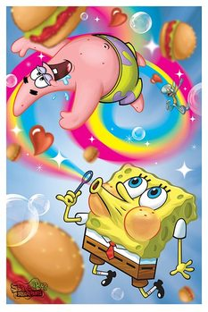 Poster Spongebob Squarepants - Rainbow