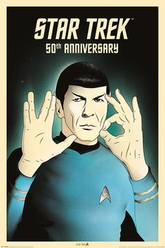 Poster  Star Trek - Spock 5-0  50th Anniversary