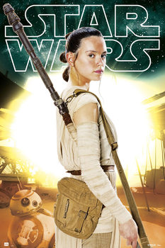 Poster Star Wars Episode VII - Rey BB-8