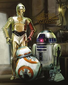 Pôster Star Wars Episode VII: The Force Awakens - Droids