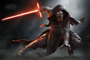 Star Wars Episode VII: The Force Awakens - Kylo Ren Crouch Poster, Art Print