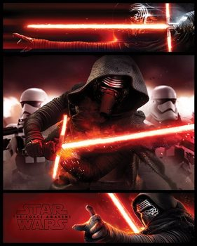 Star Wars Episode VII: The Force Awakens - Kylo Ren Panels Poster, Art Print