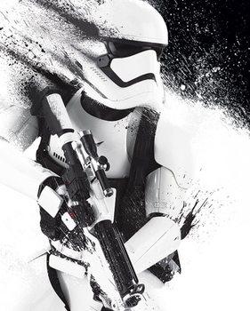 Star Wars Episode VII: The Force Awakens - Stormtrooper Paint Poster, Art Print