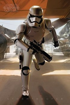 Star Wars Episode VII: The Force Awakens - Stormtrooper Running Poster, Art Print