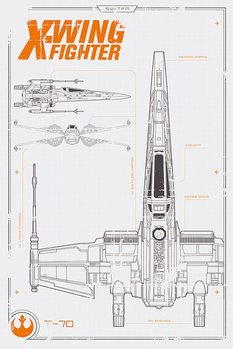 Poster Star Wars Episode VII: The Force Awakens - X Wing Plans