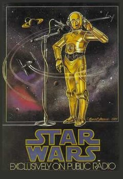 Poster STAR WARS - radio drama