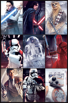 Poster  Star Wars The Last Jedi - Characters