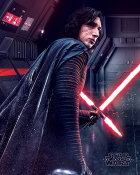Star Wars The Last Jedi - Kylo Ren Rage Poster