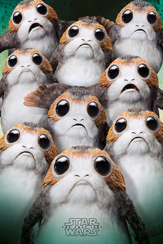 Poster Star Wars The Last Jedi - Many Porgs