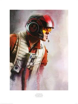 Star Wars The Last Jedi - Poe Paint Art Print
