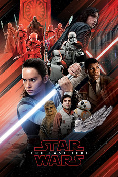 Poster  Star Wars The Last Jedi - Red Montage