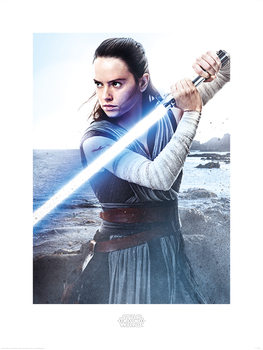 Star Wars The Last Jedi - Rey Engage Art Print