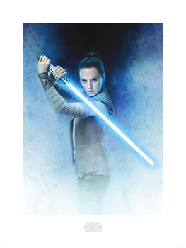 Star Wars The Last Jedi - Rey Lightsaber Guard Art Print