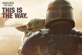 Poster Star Wars: The Mandalorian - Mando & The Child