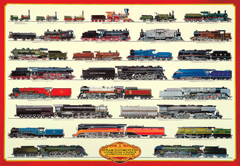 Steam locomotives II Poster