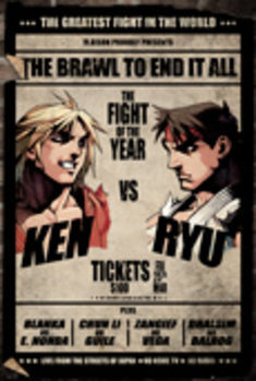 Street Fighter - Fight Poster Poster