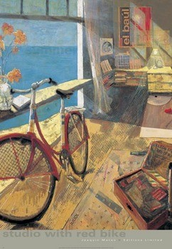 Studio with Red Bike Art Print