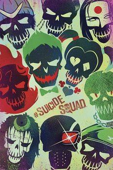 Poster Suicide Squad: Sebevražedný oddíl - Skulls