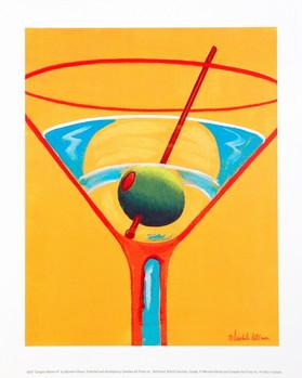 Sunglow Martini III Art Print