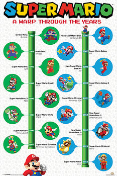 Super Mario - A Warp Through The Years Poster