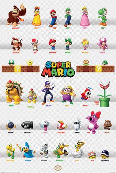 Super Mario - Character Parade Poster