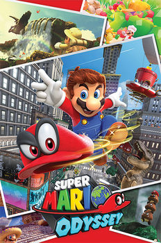 Poster Super Mario Odyssey - Collage
