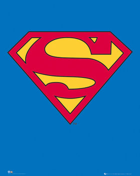 SUPERMAN - classic logo Poster