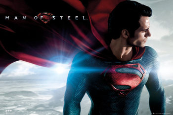 SUPERMAN MAN OF STEEL - cape Poster