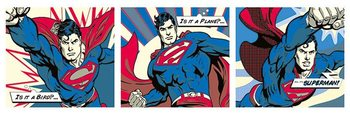 Superman - Pop Art Triptych Poster