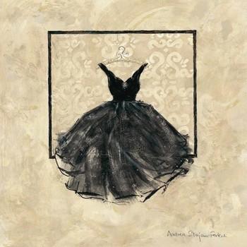 TAKE ME DANCING I - black Art Print