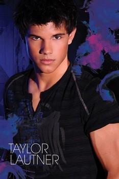 TAYLOR LAUTNER - blue Poster