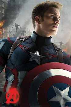 The Avengers: Age Of Ultron - Captain America Poster, Art Print