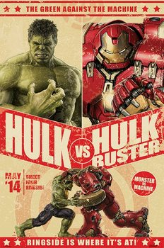 The Avengers: Age Of Ultron - Hulk Vs Hulkbuster Poster, Art Print