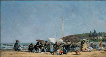 The Beach at Trouville Art Print