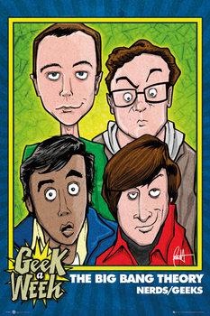 THE BIG BANG THEORY - Geeks Poster, Art Print