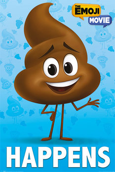 Poster The Emoji Movie - Poop Happens