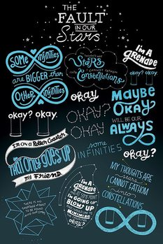 Pôster The Fault In Our Stars - Typographic