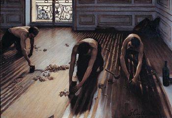 The Floor Scrapers, 1875 Art Print