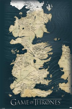 Poster The Game Of Thrones - A Guerra dos Tronos mapa