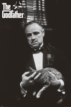 Poster The Godfather - cat (B&W)