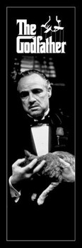 The Godfather - cat black and white Poster
