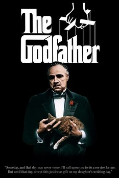 THE GODFATHER - colour cat Poster