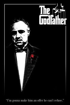 THE GODFATHER - red rose Poster, Art Print
